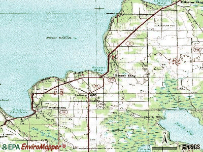 Sister Bay topographic map