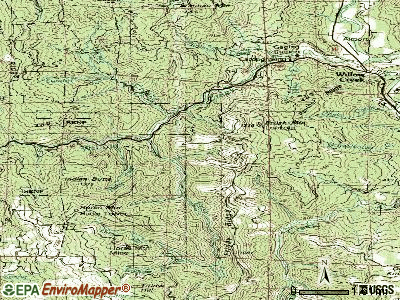 Willow Creek topographic map