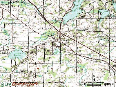 Slinger topographic map
