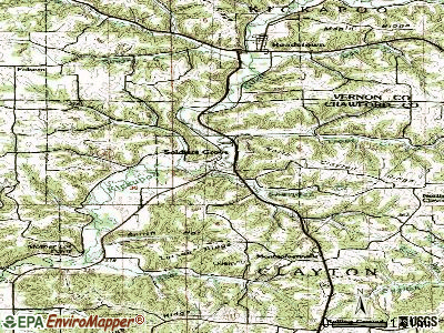 Soldiers Grove topographic map