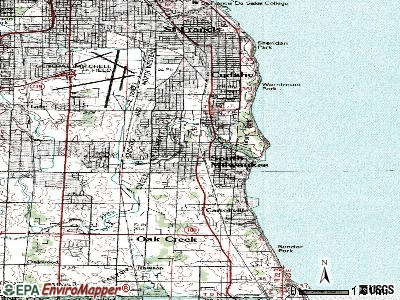 South Milwaukee topographic map