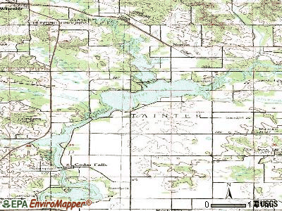 Tainter Lake topographic map