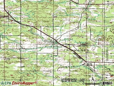 Tigerton topographic map