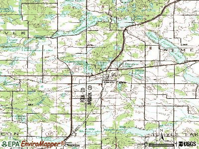 Turtle Lake topographic map