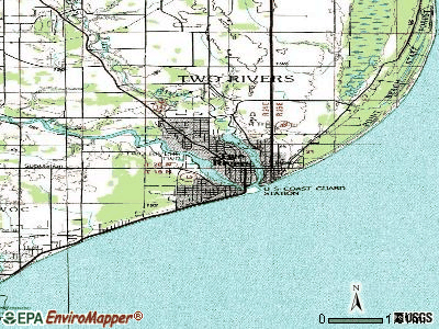 Two Rivers topographic map