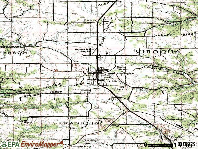 Viroqua topographic map