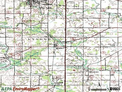 Waldo topographic map
