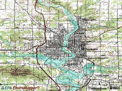 Wausau topographic map