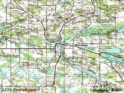 Wautoma topographic map