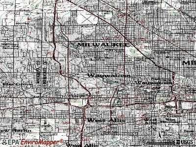 Wauwatosa topographic map