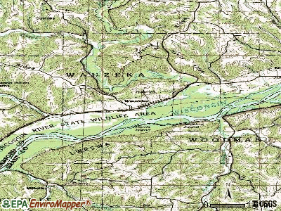 Wauzeka topographic map