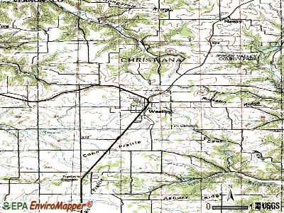 Westby topographic map