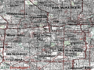 West Milwaukee topographic map