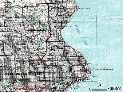 Whitefish Bay topographic map