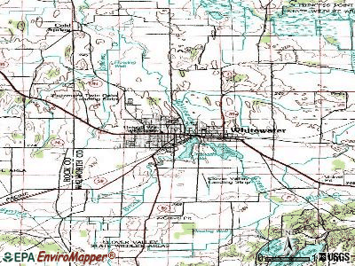Whitewater topographic map