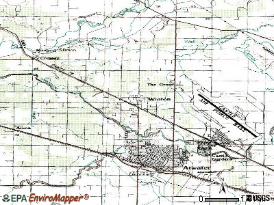 Winton topographic map