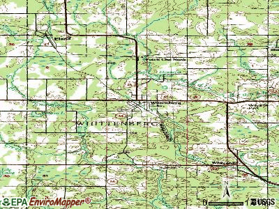Wittenberg topographic map