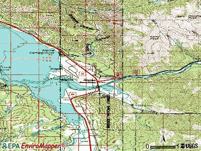 Alpine topographic map
