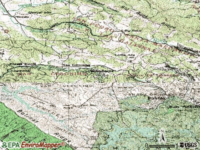 Woodacre topographic map