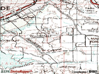 Woodcrest topographic map