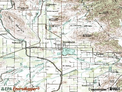 Woodlake topographic map