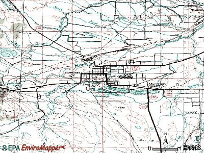 Cody topographic map