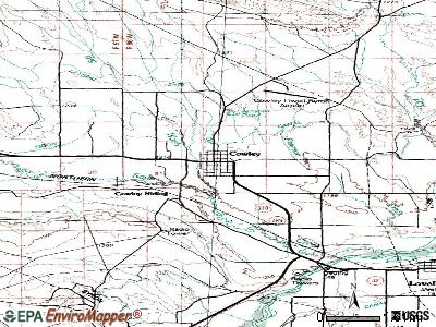 Cowley topographic map