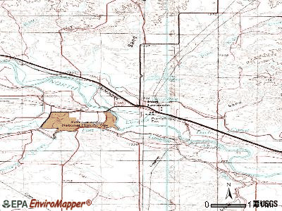 Fort Laramie topographic map