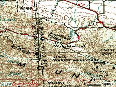 Wrightwood topographic map