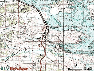 Glendo topographic map