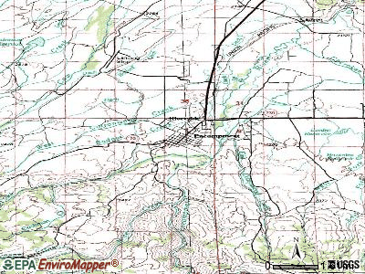 Grand Encampment topographic map