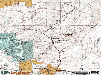 Hartville topographic map