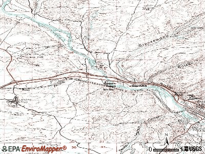 James Town topographic map