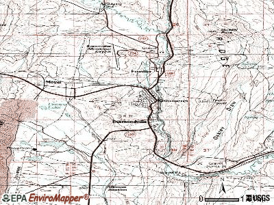 Kemmerer topographic map