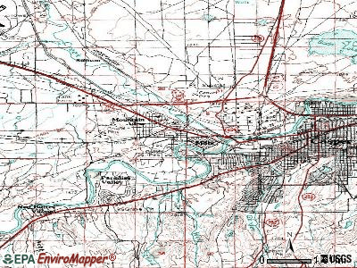 Mills topographic map
