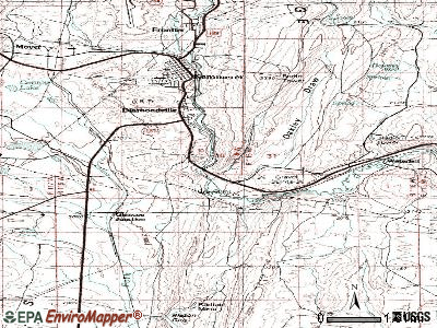 Oakley topographic map