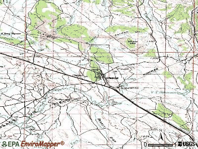 Osage topographic map