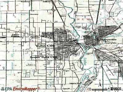 Yuba City topographic map