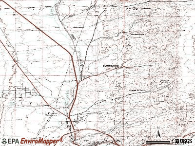 Reliance topographic map