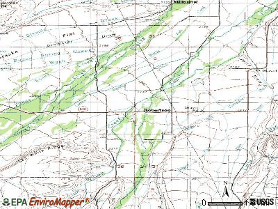 Robertson topographic map