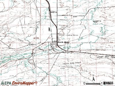 Rock River topographic map