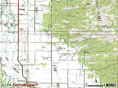 Star Valley Ranch topographic map