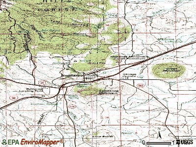 Sundance topographic map