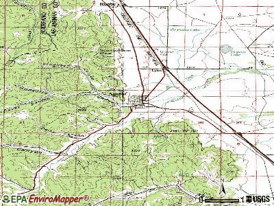Aguilar topographic map