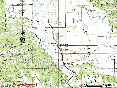 Thayne topographic map