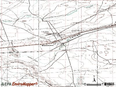 Wamsutter topographic map