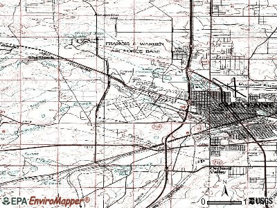 Warren AFB topographic map