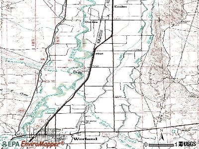 Washakie Ten topographic map