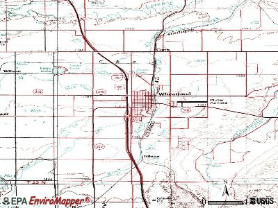 Wheatland topographic map