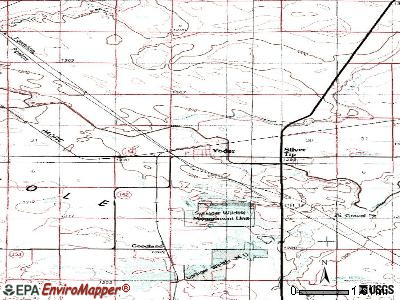 Yoder topographic map